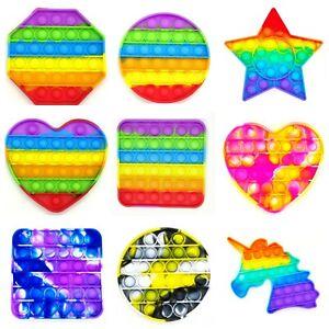 Push It Pop Fidget Bubble Pop Trend Spielzeug Toy Anti Stress Rainbow TikTok