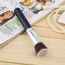 New Foundation Liquid Brush Cosmetic Makeup Tool Flat Top Wood + Aluminum Z2