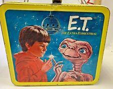 1982 ET The Extraterrestrial Movie Vintage origl Metal Lunchbox Drew Barrymore N
