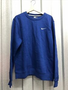 Nike Mens Sweatshirts Jumper Tops Large Crew Style Blue