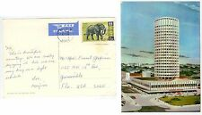 1974 Nairobi Kenya postcard solo Sc 30 Elephant to Florida - cover