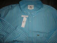 LACOSTE AUTHENTIC CASUAL DRESS SHIRT SIZE 6XL MEN NWT $115.00