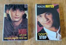 Wade Hayes Cassette Single Lot I'm Still Dancin With You & Don't Stop NEW SEALED