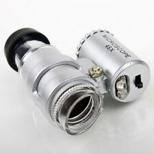 New 45X Mini Microscope Pocket Microscope Jeweler Jewellery Loupe Magnifier DEJV