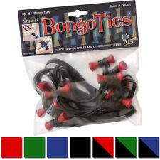BongoTies todo natural reutilizable Cable Tie Envolturas 10-Pack