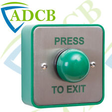 Surface Mount Push To Exit Button Switch Large Green Backbox Access Press Releas