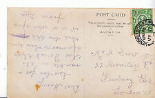 Genealogy Postcard - Family History - Snow - Finsbury Park - London N   A1016