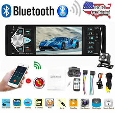 4.1'' Single 1DIN Car Stereo MP5 MP3 Player Bluetooth Radio FM Camera USB W T5U6