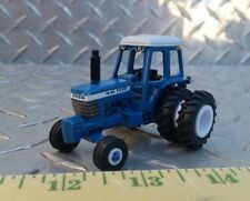 1/64 CUSTOM ERTL FARM TOY FORD TW20 WHITE STRIPE DETAILED TRACTOR STANDI RUBBER