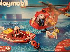 playmobil 4428bateau sauvetage+hélicoptère+moteur submersible neuf scellé