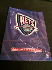 2001-02 New Jersey Nets Basketball Pocket Schedule Team Version