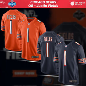 NEW ARRIVAL Men's Chicago Bears Justin Fields #1 First Round Pick Game Jersey