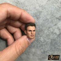 1/12 Scale Captain America Male Head Sculpt Fit 6'' Collectible Figure Model Toy