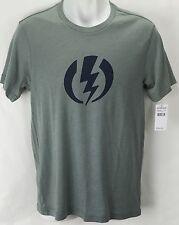 NEW Electric Standard Volt Gray Mens Medium Snow Skate Cotton Tee Shirt Msrp$22
