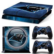 PS4 Skin & Controller Skin Vinyl Sticker For PlayStation 4 Carolina Panthers NFL