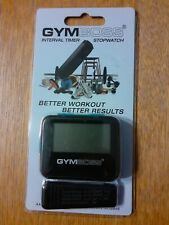 GYMBOSS INTERVAL TIMER AND STOPWATCH BLACK / BLUE SOFTCOAT NEW/SEALED FREE SHIP!