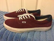 Mens Vans Era Suede Trainers Sneakers US 10 UK 9 Burgundy/ Maroon