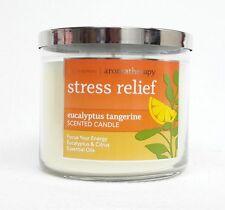 Bath & Body Works Stress Relief Eucalyptus Tangerine 3-Wick Candle Large 14.5 oz