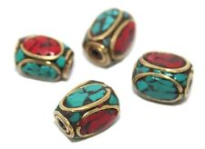 Turquoise Beads coral Beads 4 Nepalese Beads Tibetan Beads Gypsy Beads BDS323