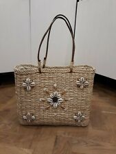 Accessorize Women's Basket Wicker Beach Summer Bag Handbag