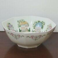 Lenox The Lenox Village Bowl 1995 Fine Porcelain Decorative House Flowers - EUC