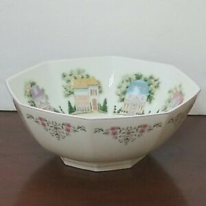 Lenox The Lenox Village Bowl 1995 Fine Porcelain Decorative House Flowers - EUC
