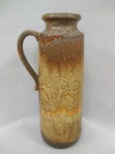 Scheurich Keramik Fat Lava Pottery Handled Vase Glossy Yellow Orange 401-28