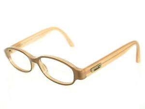 Gucci Women's Sunglasses FRAME ONLY GG 1186 E8Y Oval Tan &Peach Italy 51[]15 135