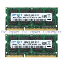 Samsung 8GB 2X 4GB PC3-10600 DDR3-1333MHz 204pin SODIMM Laptop Memory RAM hp del