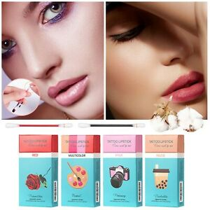 20x New Cotton Swab Disposable Lip Stain Lipstick Set Waterproof  Lip Glaze 3ml