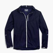 New Balance for J.Crew Men's Packable Lightweight Hood Jacket Navy NEW L