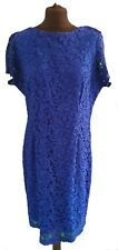 ROMAN RICH BLUE MESH LACE DRESS - UK Size 18