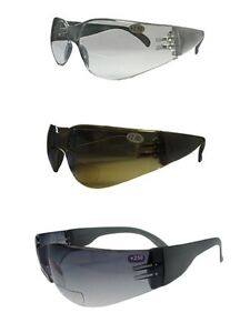 Bifocal Impact Wrap Around Polycarbonate Safety Sunglasses and Glasses UV Lenses