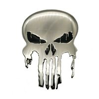 PUNISHER Skull Logo Polished Silvertone Belt Buckle