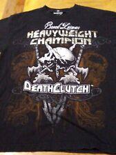 BROCK LESNAR HEAVYWEIGHT CHAMPION DEATH CLUTCH UFC WWE SHIRT WRESTLEMANIA RARE