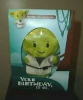 Star Wars The Mandalorian Itty Bitty Baby Yoda Birthday Card With Stuffed Animal