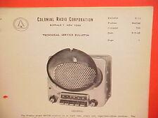1949 PONTIAC CHIEFTAIN STREAMLINER COLONIAL SYLVANIA AM RADIO SERVICE MANUAL 732