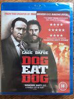 Nicolas Cage Willem Dafoe DOG EAT DOG ~ 2016 Eddie Bunker Crime Film UK Blu-ray