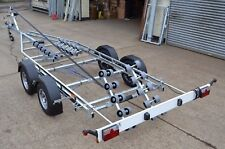 New 2600kg Multi Roller Boat Trailer Swing Beam Powerboat Rib Fishing Cruiser