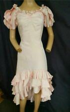 """1980's VINTAGE   LIGHT PINK RUFFLED SALSA  PARTY, PROM EVENING  DRESS-33"""" BUST"""