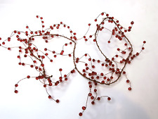 120cm Red Beaded Garlands Wire String Acrylic Crystal Beaded Garland Beads