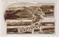 Lancashire postcard - Southport (Multiview showing 4 scenes) - RP - P/U (A190)