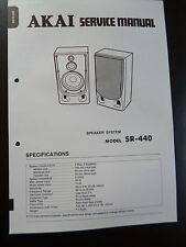 Original Service Manual  Akai SR-440