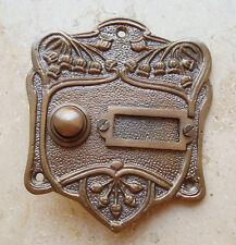 Geschenknet Antik Messing Klingel 1 Jugendstil Klingelschild Klingelplatte  K14A