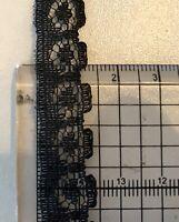 Black Floral Lace Trim 14mm Scallop Trim Lingerie Bra Per 2 Mtrs