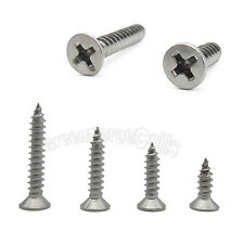 M4 (4mm) 304 Stainless Steel Phillips Flat Head Countersunk Self Tapping Screw