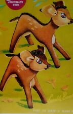 Vintage Disney Bambi toy knitting pattern