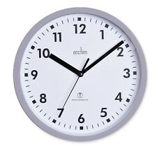 Acctim 74667 Nardo Radio Controlled Grey Wall Clock 20cm Diameter