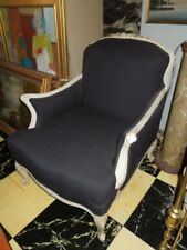 French Style, Upholstered, 20th c Lounge Chair, newly upholstered