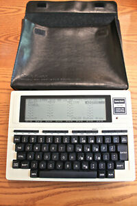 Vintage TRS-80, Model 100 Portable Computer in Good Working Condition with Case